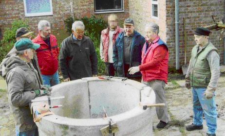 Brunnen - die 4 Formteile