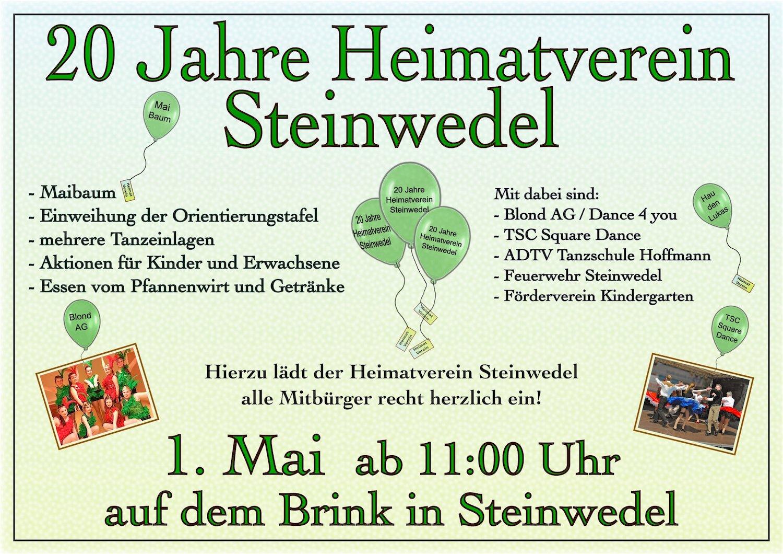 20 Jahre Heimatverein - Plakat